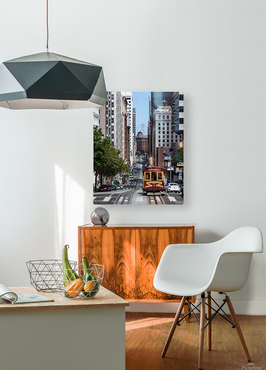 San Francisco City Scene  HD Metal print with Floating Frame on Back