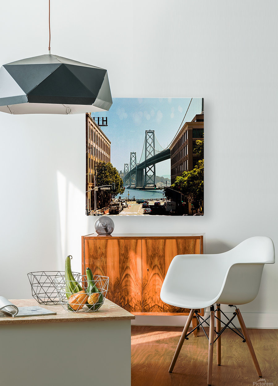 Spear Street  HD Metal print with Floating Frame on Back