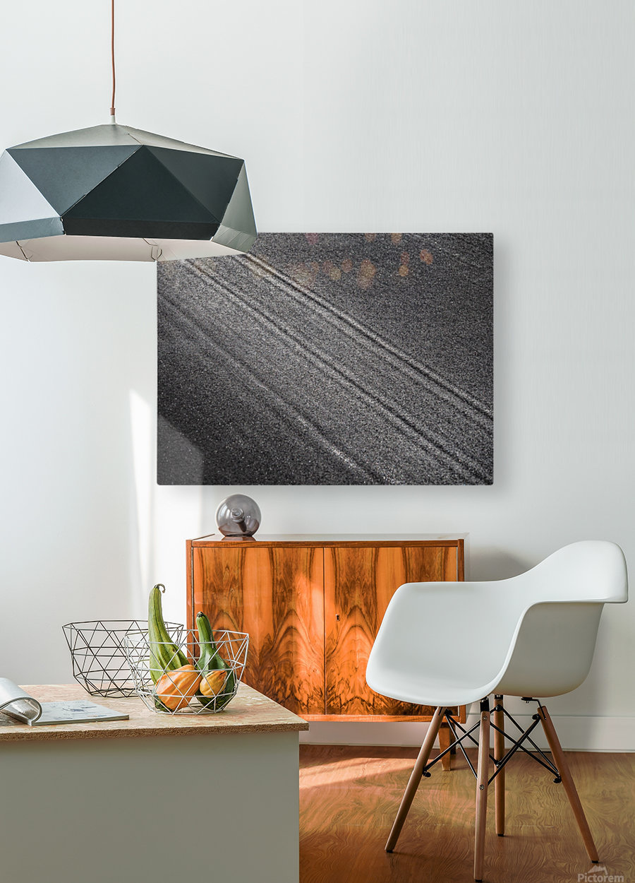 The Road  HD Metal print with Floating Frame on Back