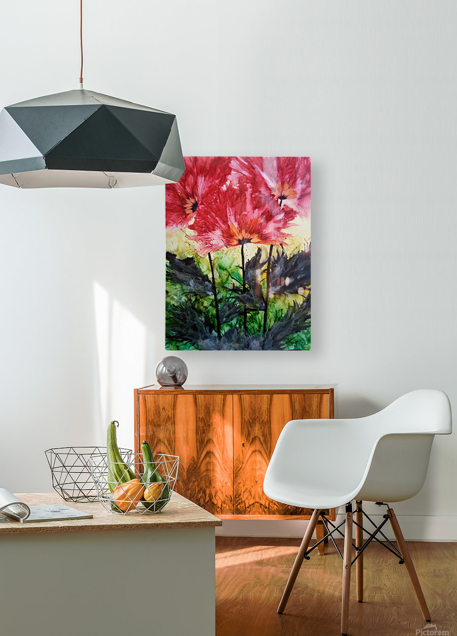 Poppies Galore  HD Metal print with Floating Frame on Back