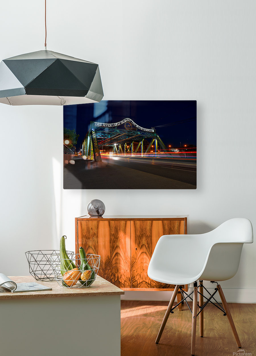Queen St Viaduct  HD Metal print with Floating Frame on Back