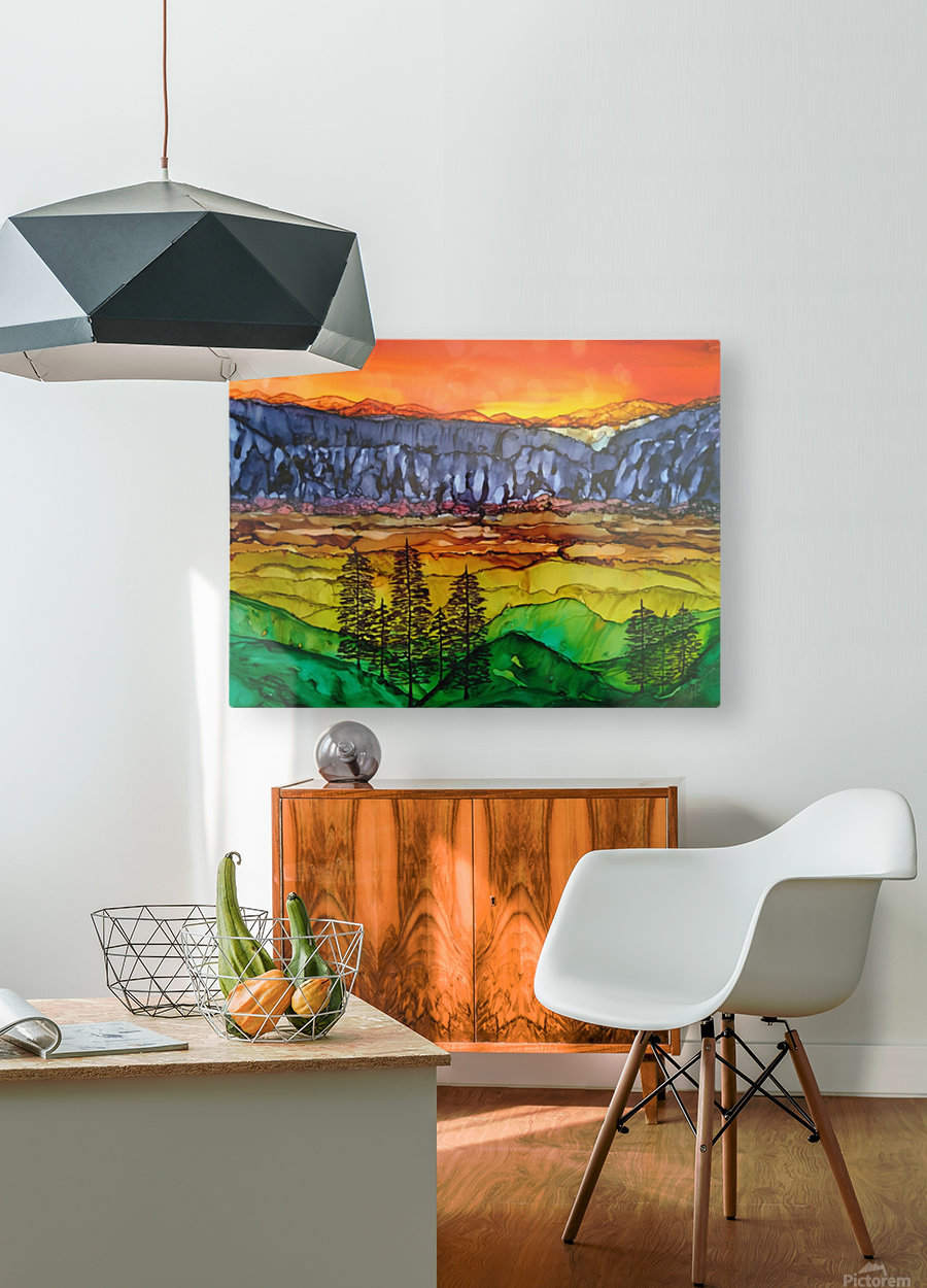 Hidden Canyon  HD Metal print with Floating Frame on Back