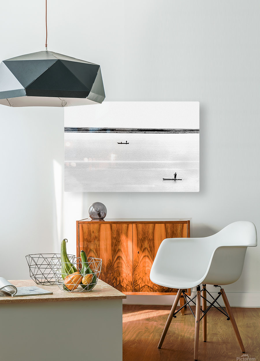 Boat - XXXV  HD Metal print with Floating Frame on Back