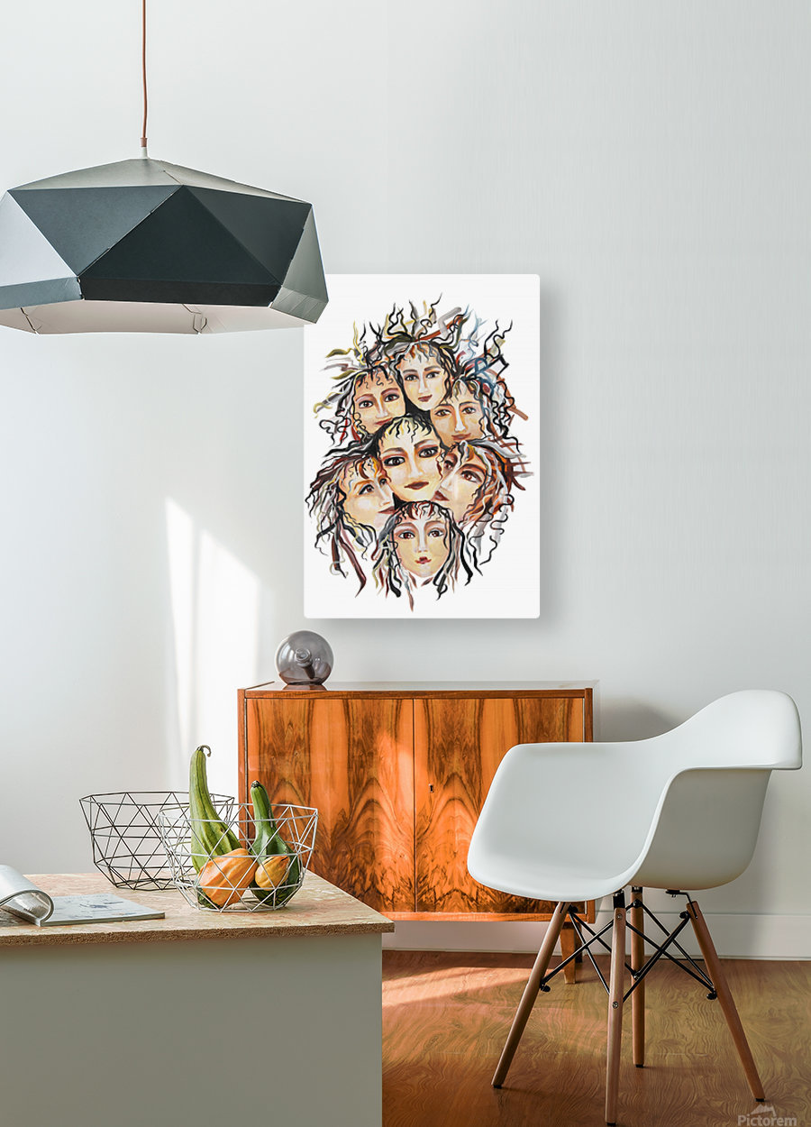 Pop Surrealism Energy  HD Metal print with Floating Frame on Back