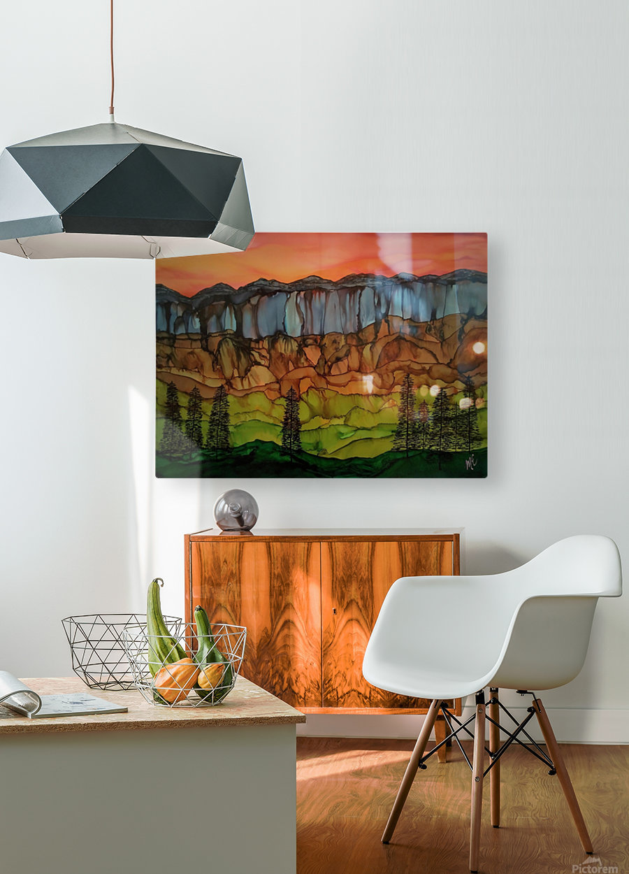 Weeping Cliffs  HD Metal print with Floating Frame on Back