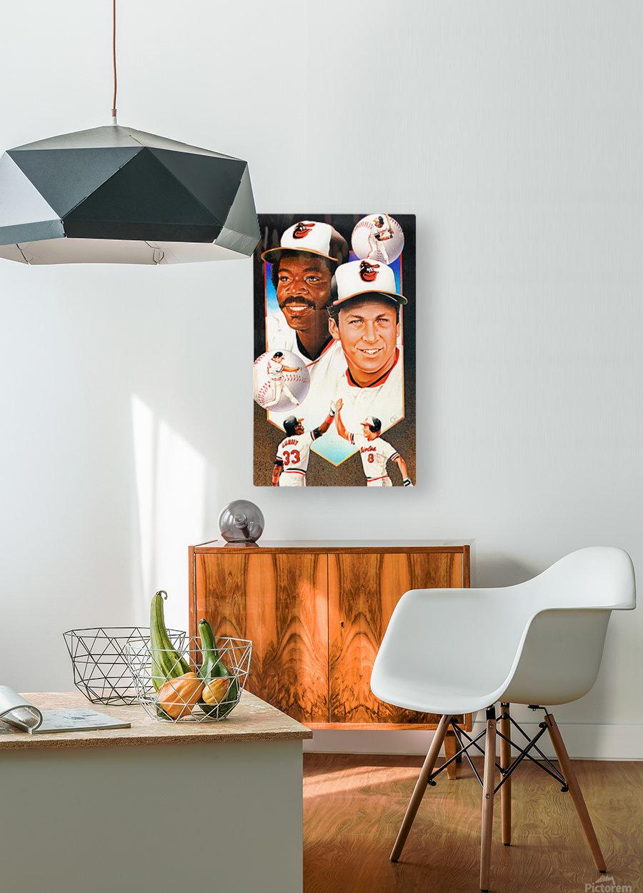baltimore orioles cal ripken jr art  HD Metal print with Floating Frame on Back