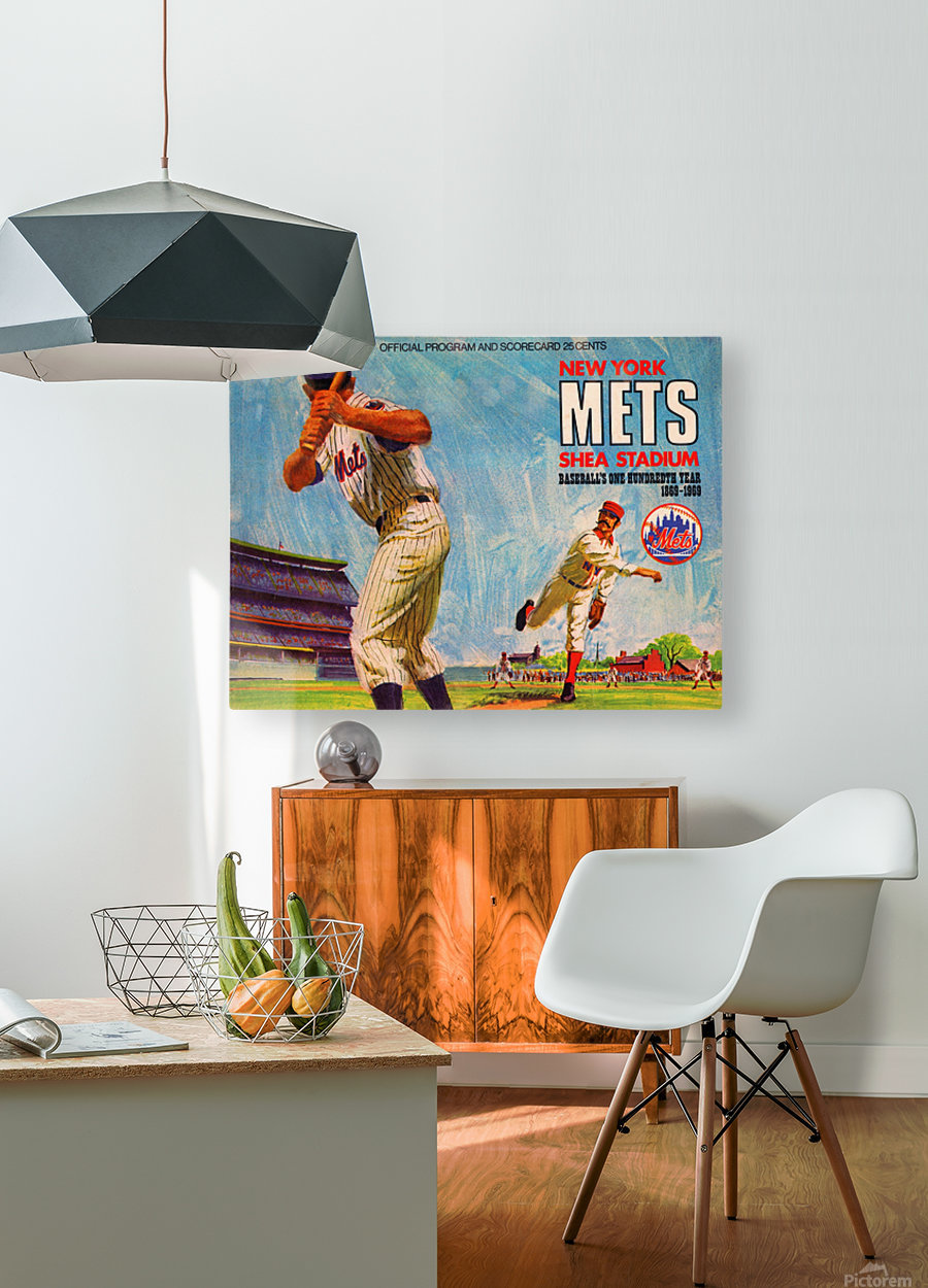 1969 New York Mets  HD Metal print with Floating Frame on Back