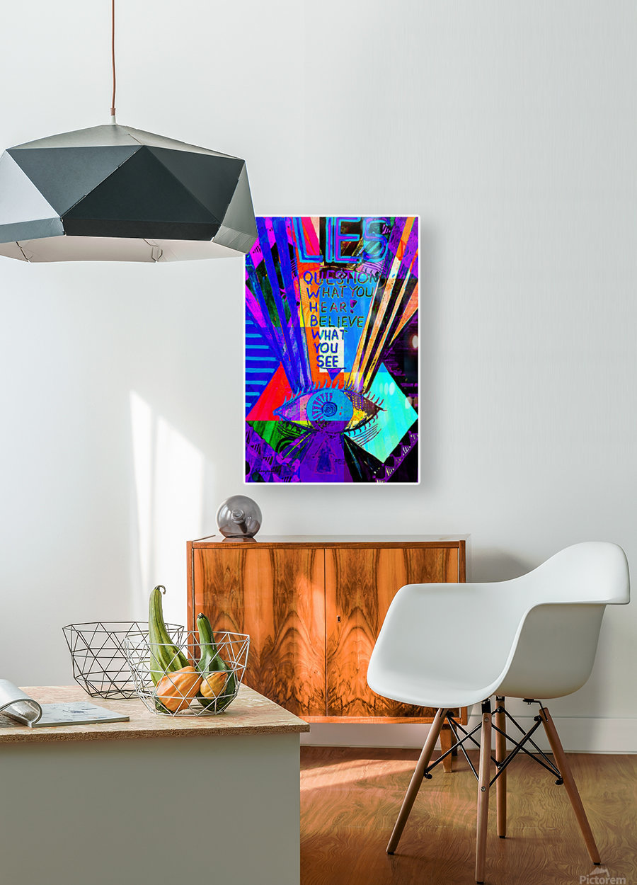 Lies  HD Metal print with Floating Frame on Back