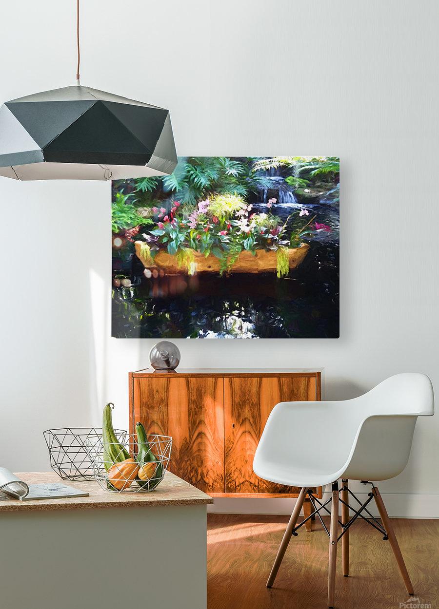 Floating Botanicals  HD Metal print with Floating Frame on Back
