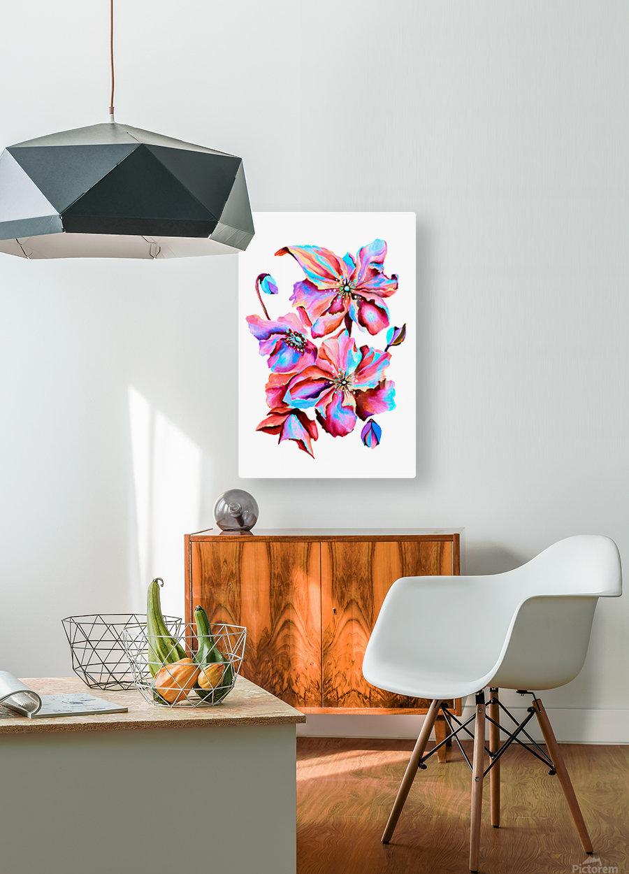 Himalaya Hot Fushia Poppies  HD Metal print with Floating Frame on Back