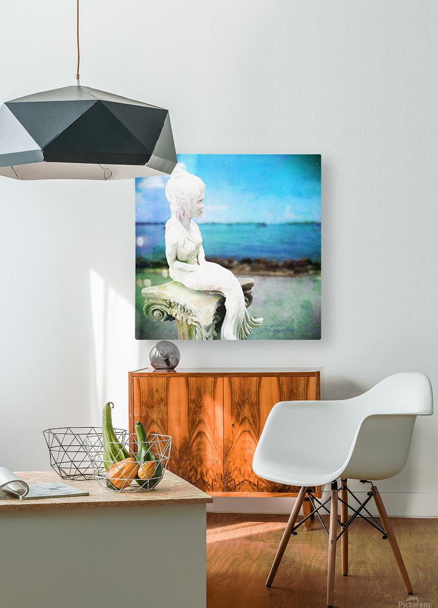 MermaidLisa  HD Metal print with Floating Frame on Back