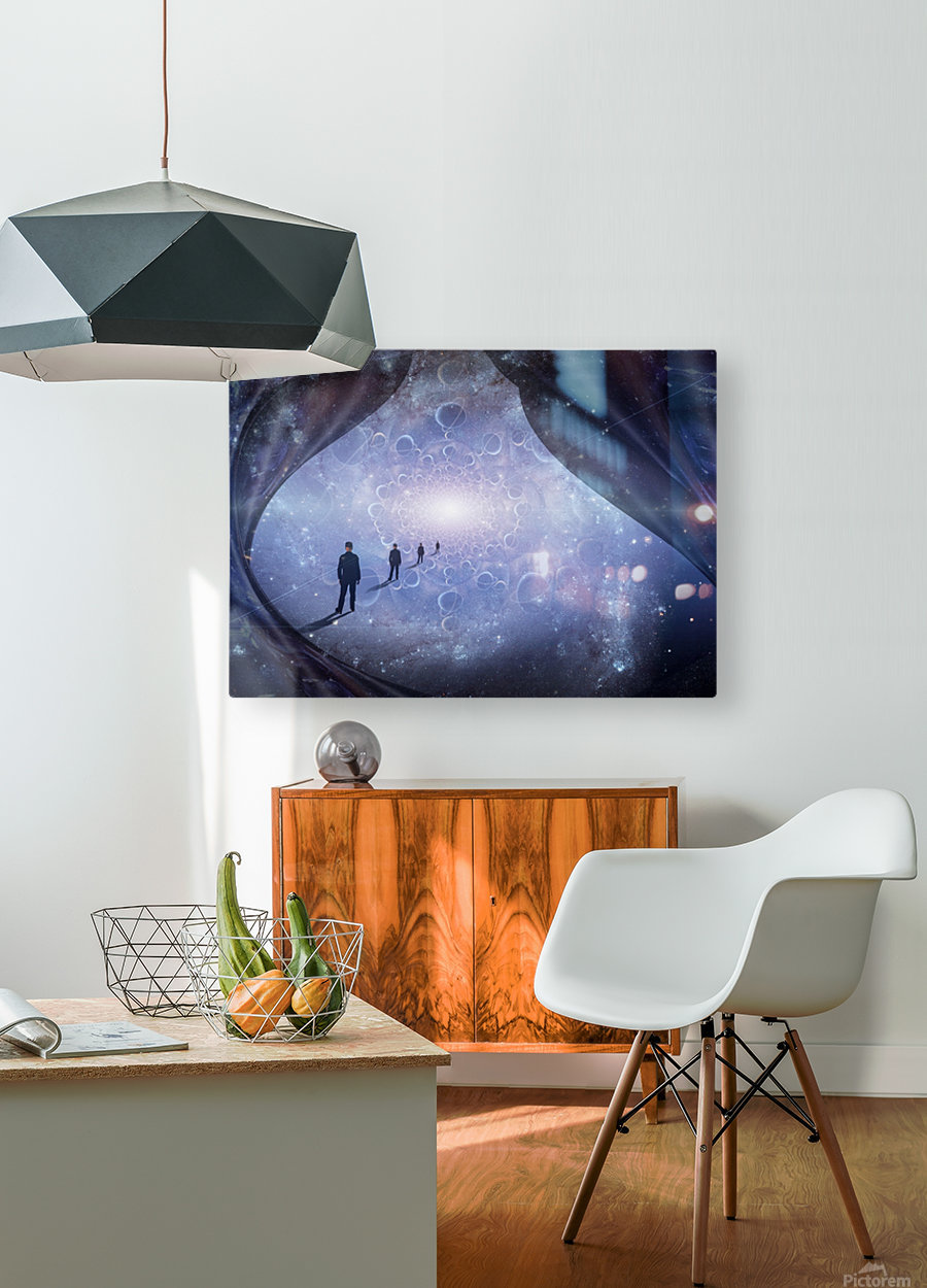 Man in Universe  HD Metal print with Floating Frame on Back