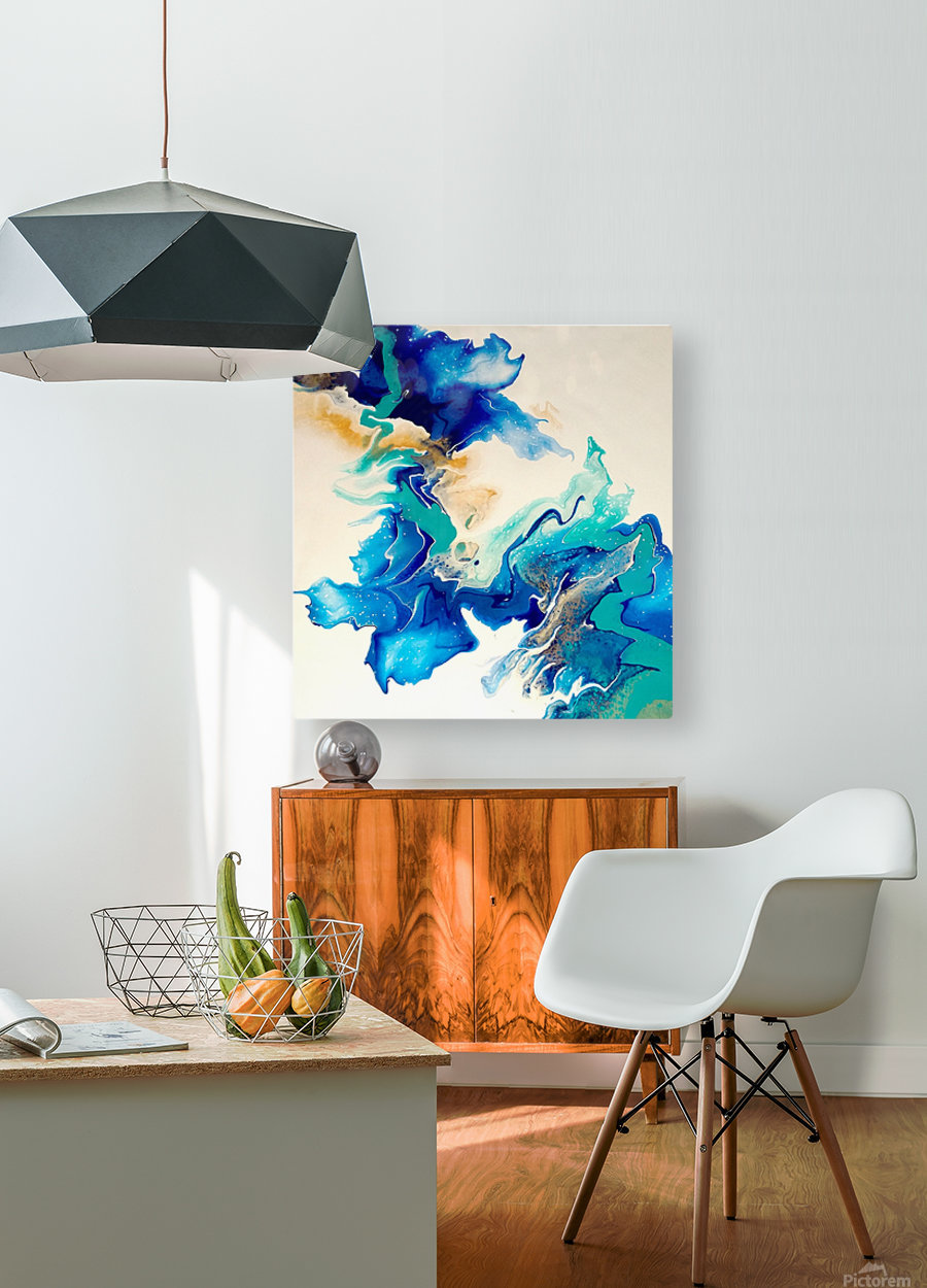 Ocean_Blue_II  HD Metal print with Floating Frame on Back