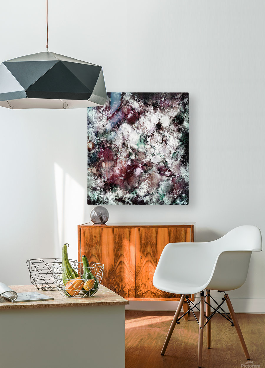 Snowcap  HD Metal print with Floating Frame on Back