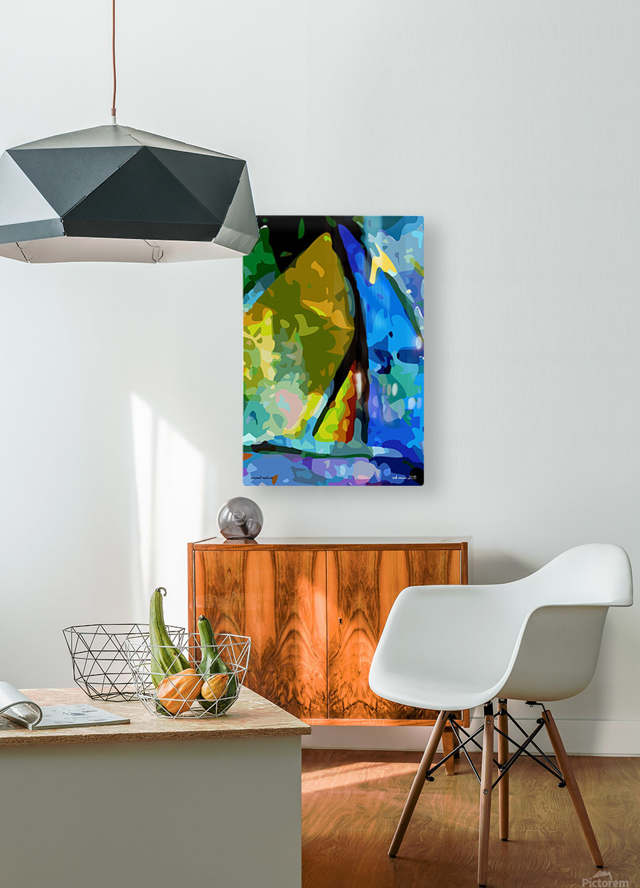 second nature  HD Metal print with Floating Frame on Back