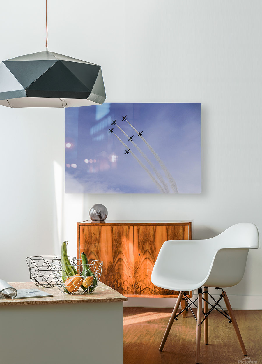 JET PLANES EXHIBITION  HD Metal print with Floating Frame on Back