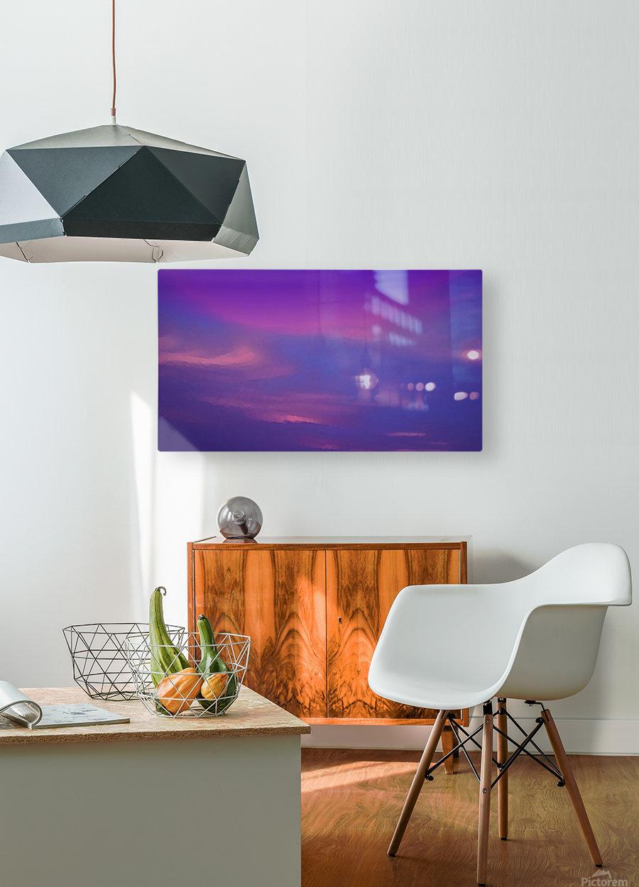 SkySmudges2  HD Metal print with Floating Frame on Back