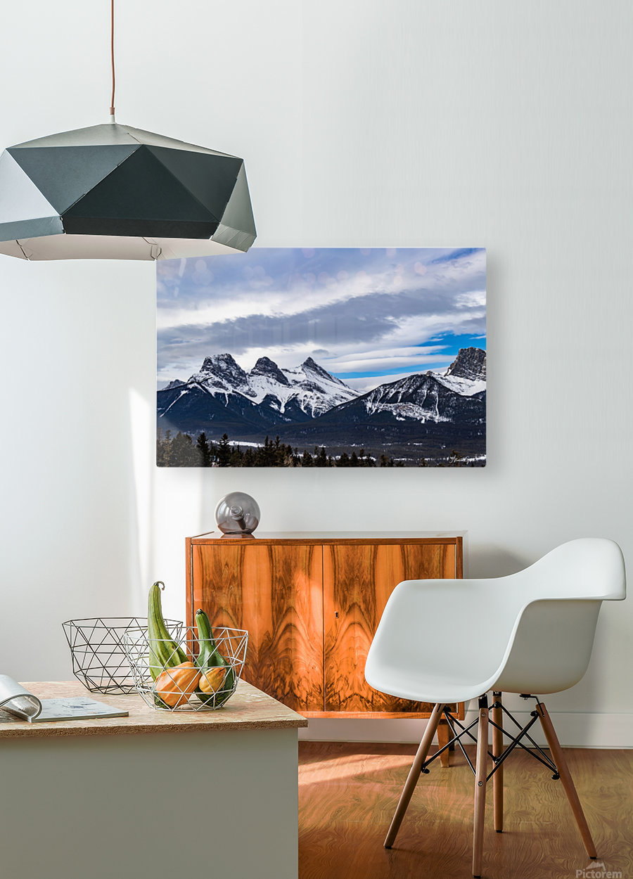 Three Sisters Mountain  HD Metal print with Floating Frame on Back