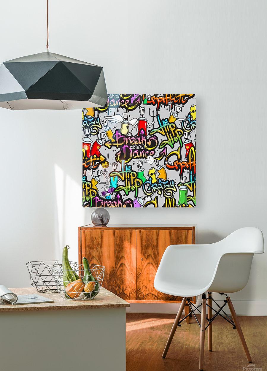 hip hop background  HD Metal print with Floating Frame on Back