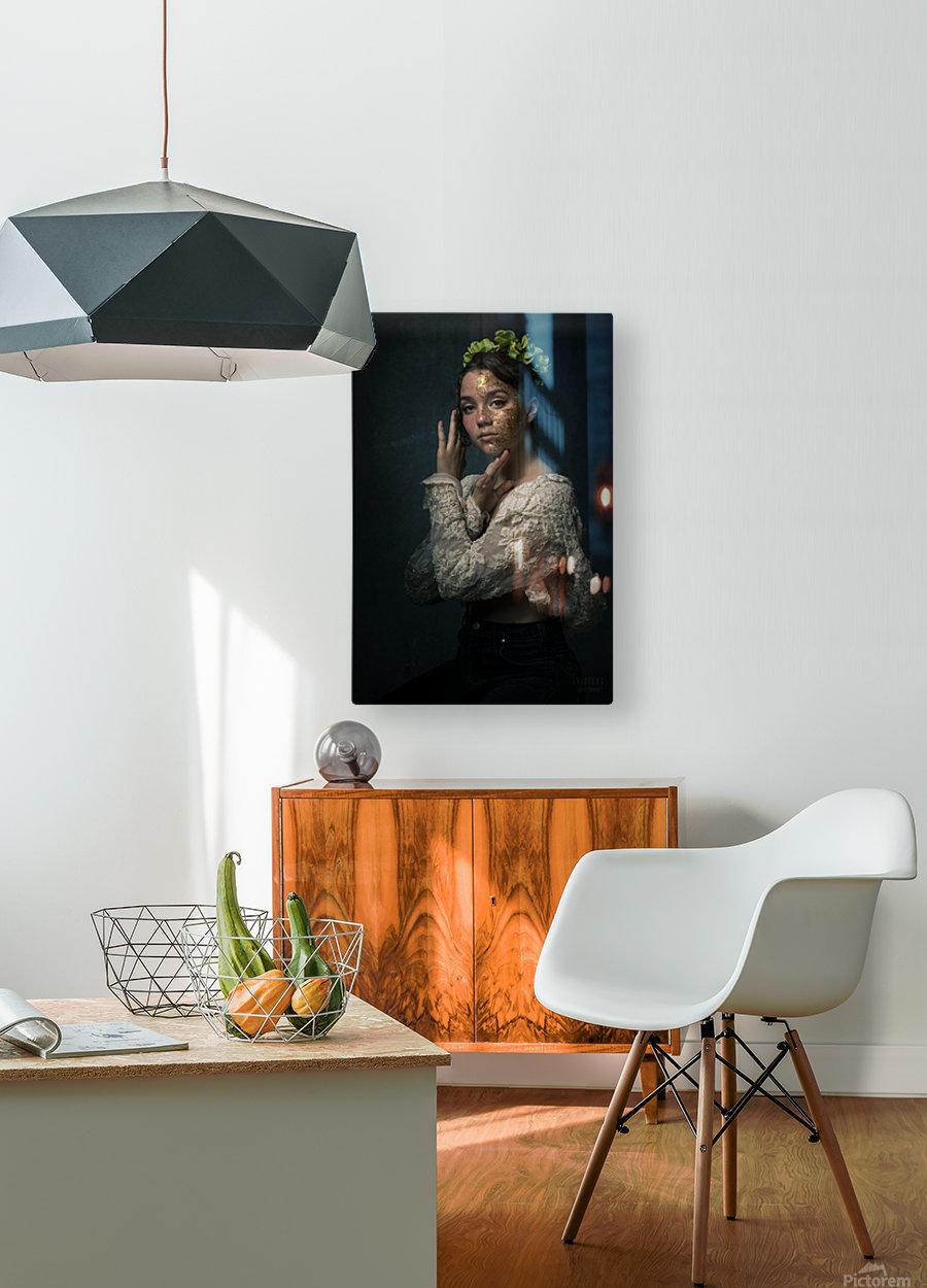 Chloe au printemps  HD Metal print with Floating Frame on Back