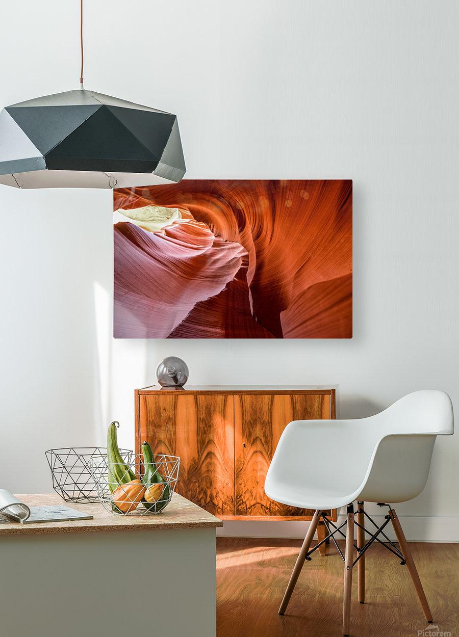 Interior of Antiloppe canyon page Arizona USA  HD Metal print with Floating Frame on Back