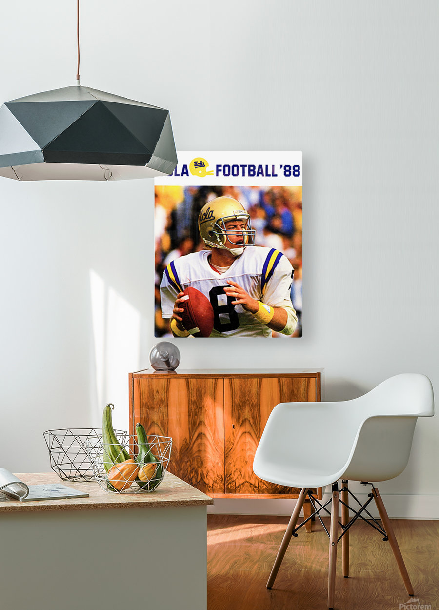 retro college sports posters ucla bruins football  HD Metal print with Floating Frame on Back