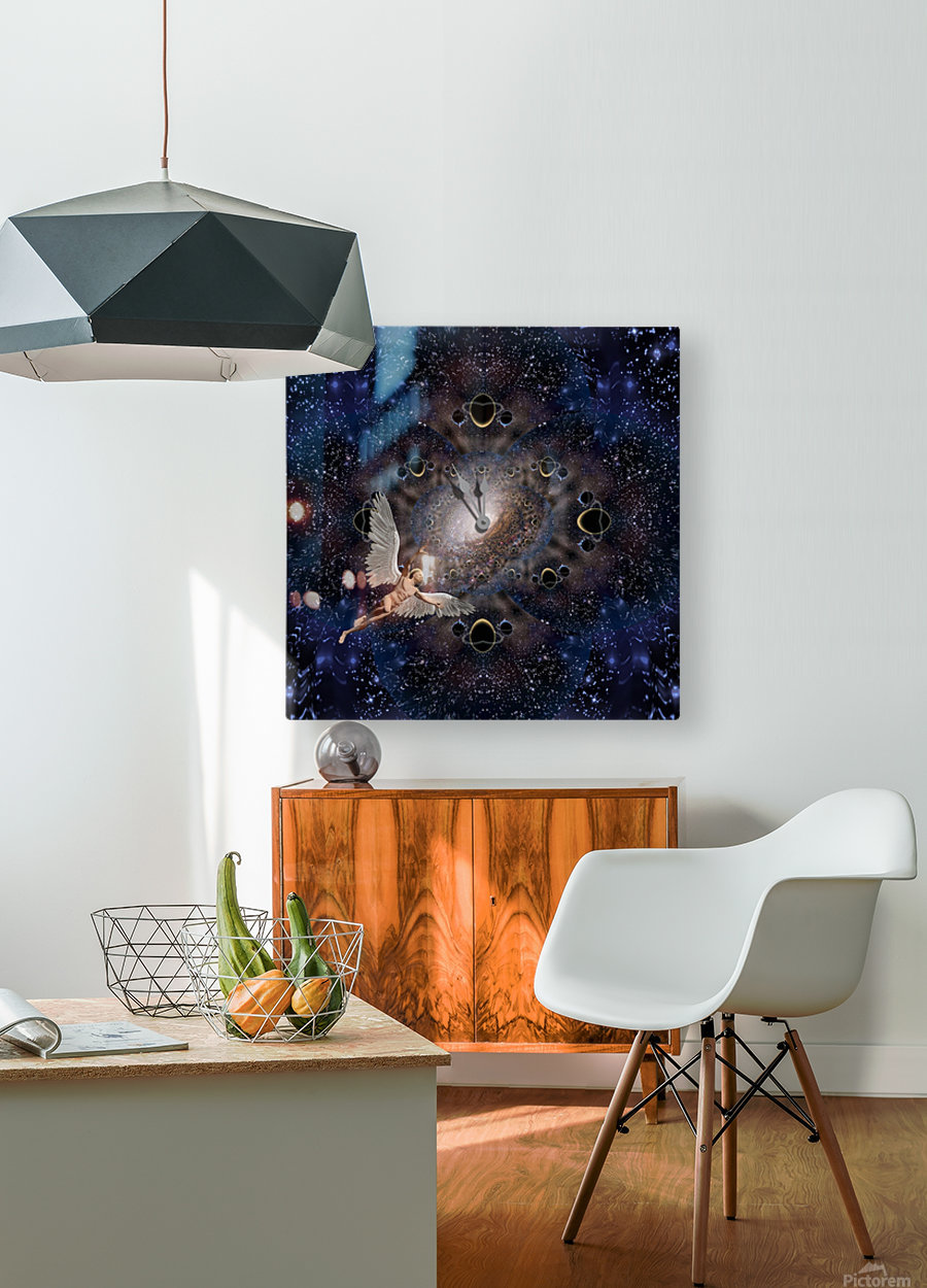 Angel in Space  HD Metal print with Floating Frame on Back