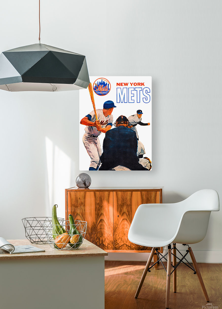 Vintage New York Mets Art  HD Metal print with Floating Frame on Back