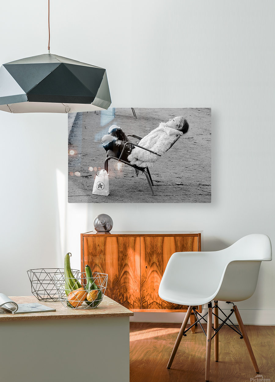 La Sieste  HD Metal print with Floating Frame on Back