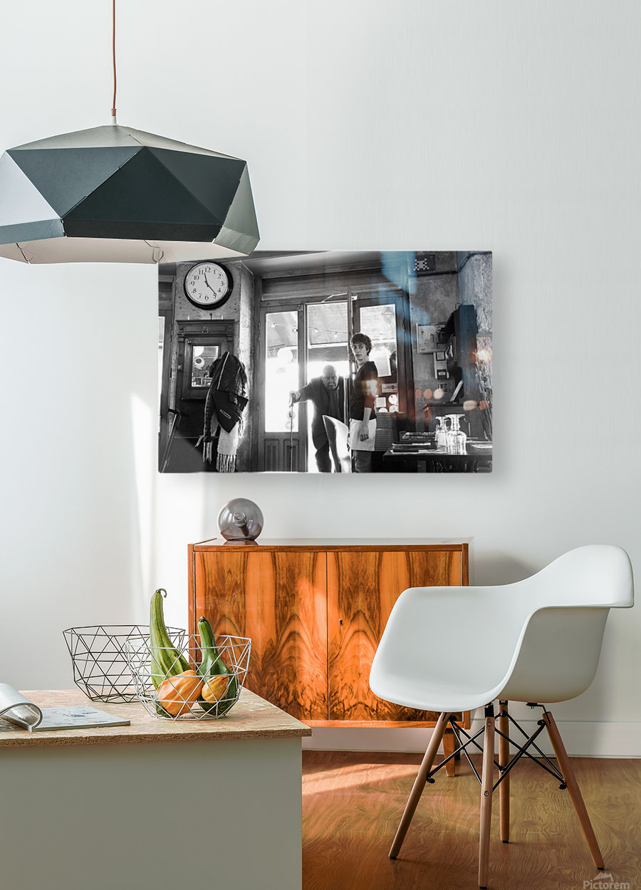 Bienvenue dans le Brasserie  HD Metal print with Floating Frame on Back