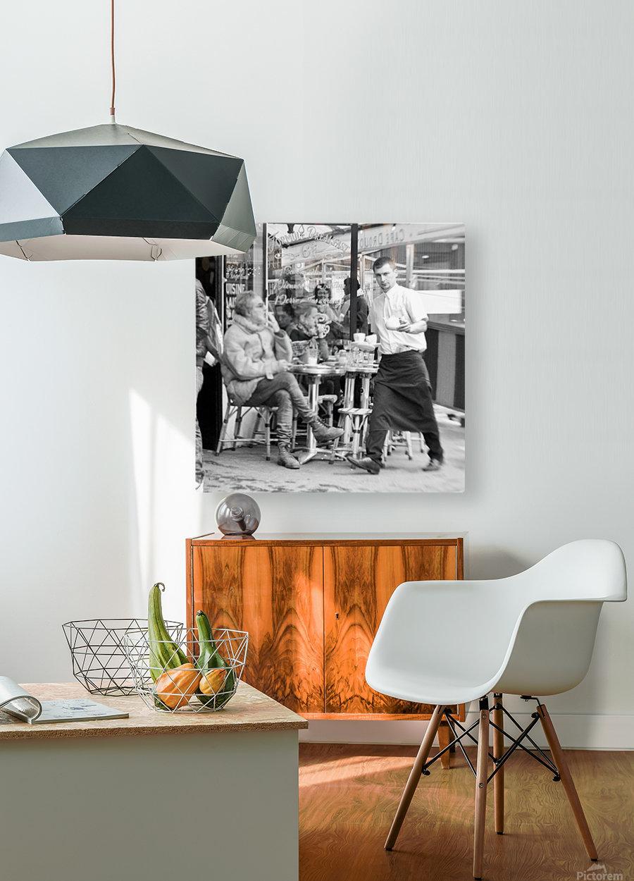 Cafe en face de Drouot  HD Metal print with Floating Frame on Back