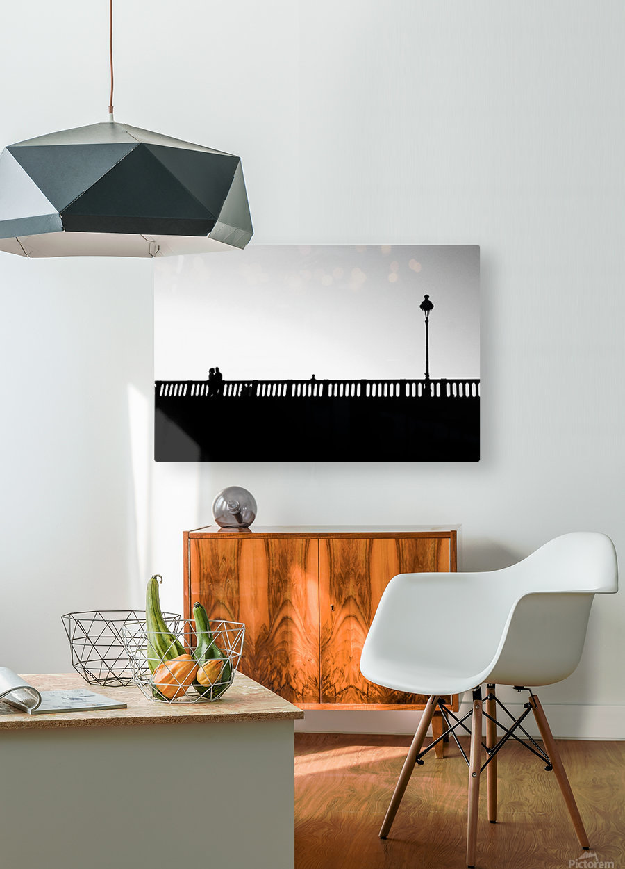 Together in Paris  HD Metal print with Floating Frame on Back