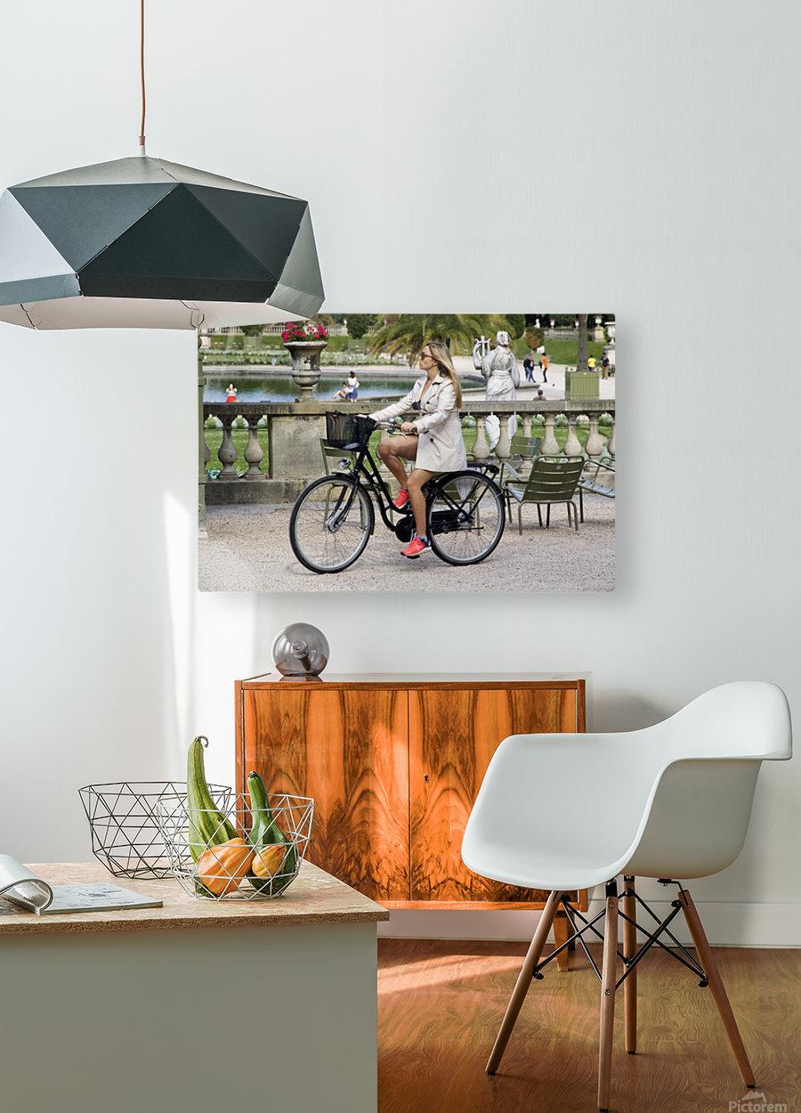 Elegance in Jardin de Luxembourg  HD Metal print with Floating Frame on Back