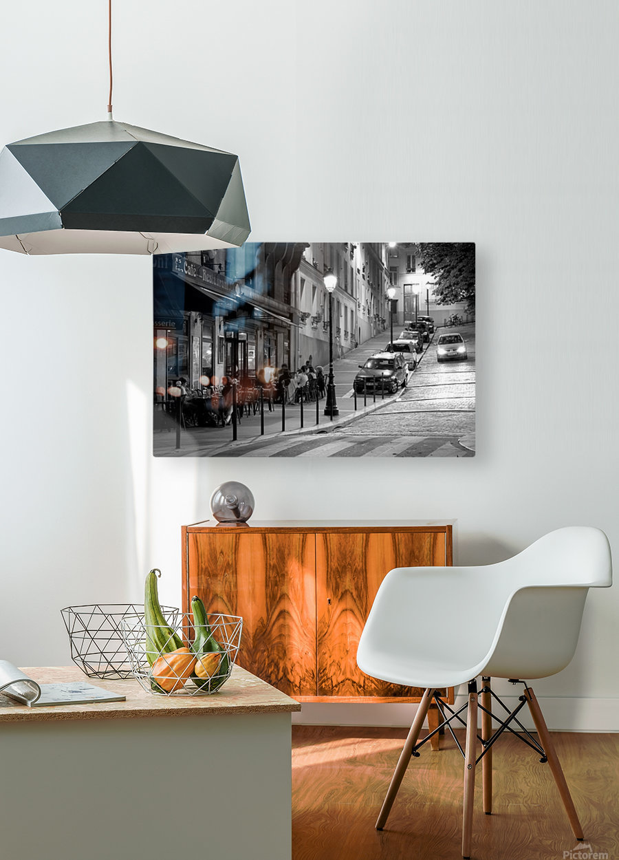 Brasserie les Buttes Chaumont  HD Metal print with Floating Frame on Back