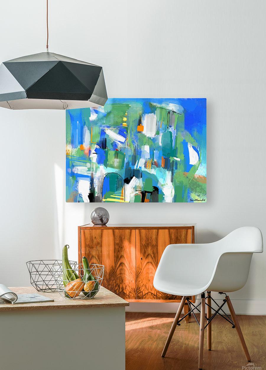 Azure Ascent  HD Metal print with Floating Frame on Back
