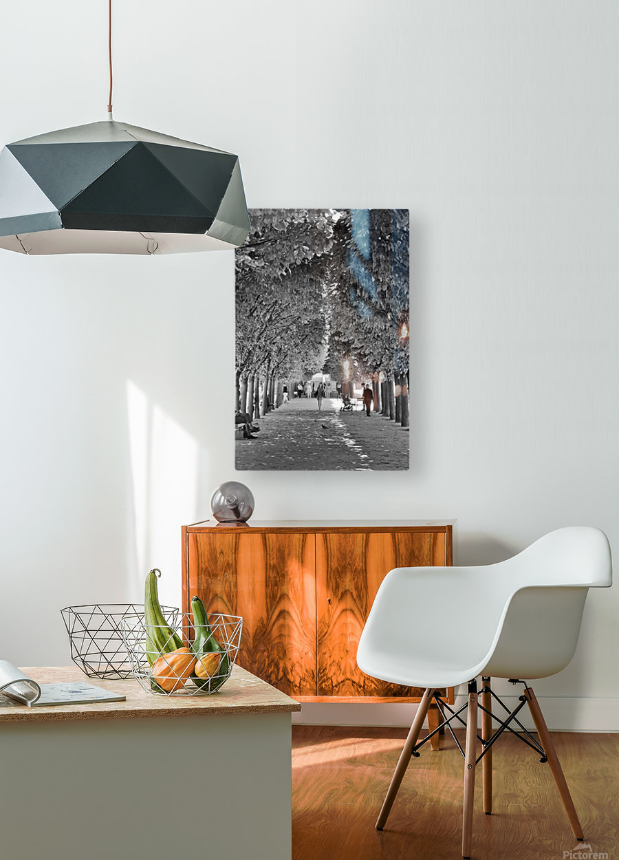 Arbre dalignement  HD Metal print with Floating Frame on Back
