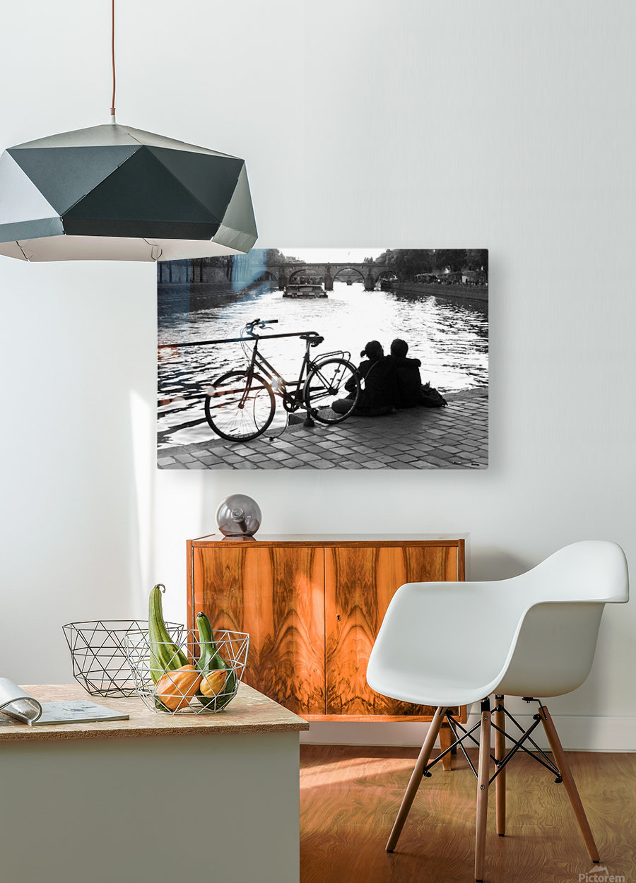 Couche du Soleil - La Seine  HD Metal print with Floating Frame on Back