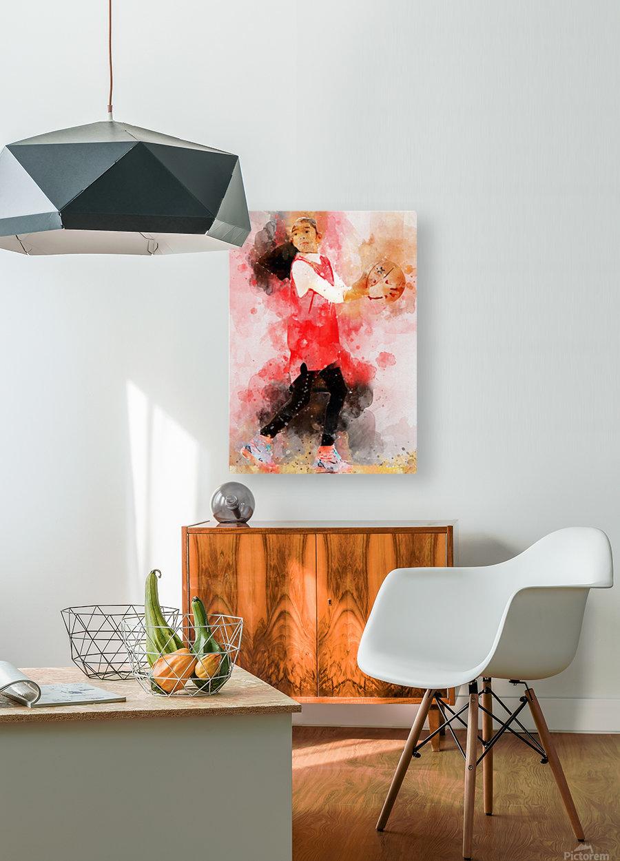 giana  HD Metal print with Floating Frame on Back