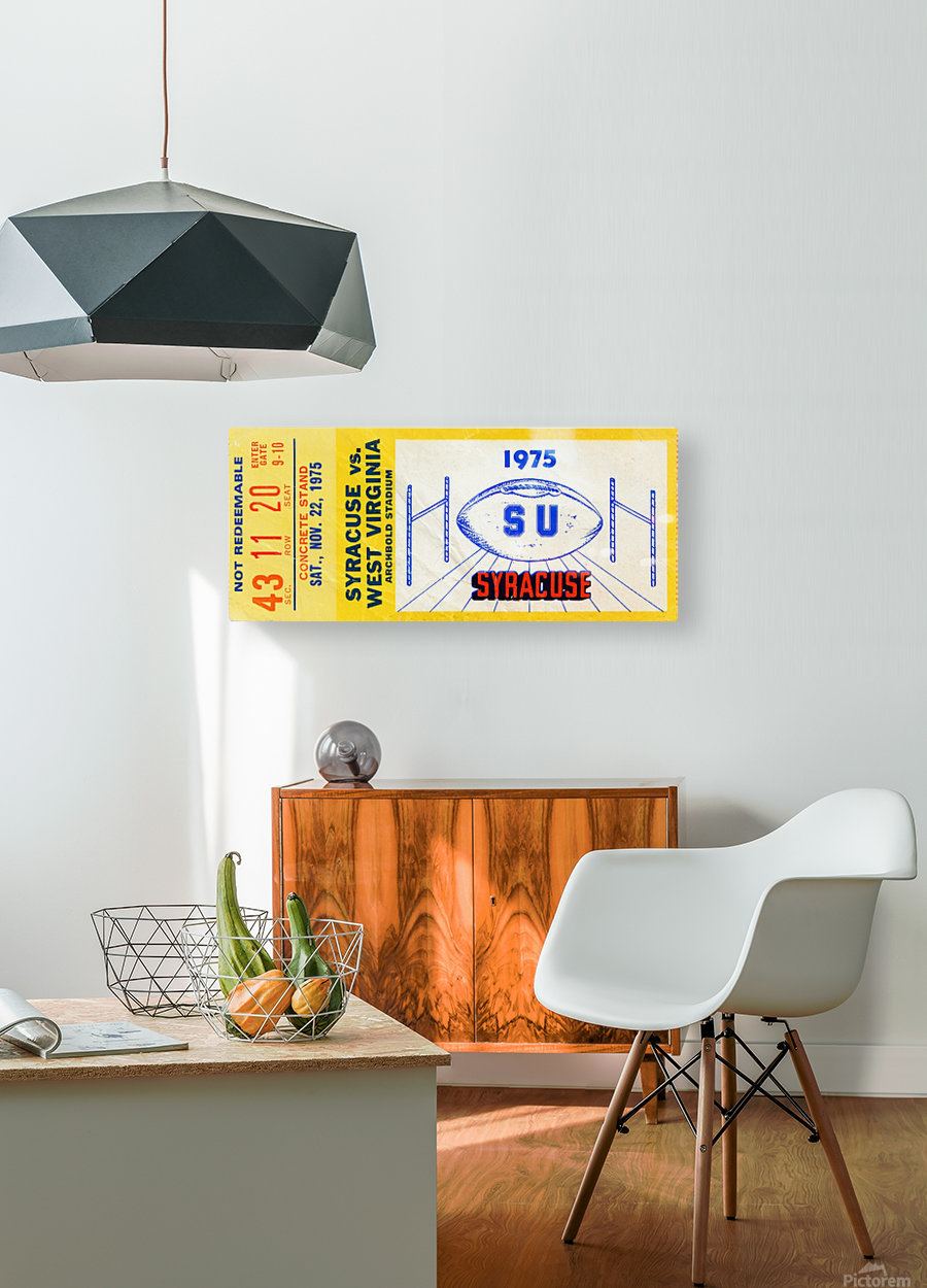 ticket wall art  HD Metal print with Floating Frame on Back