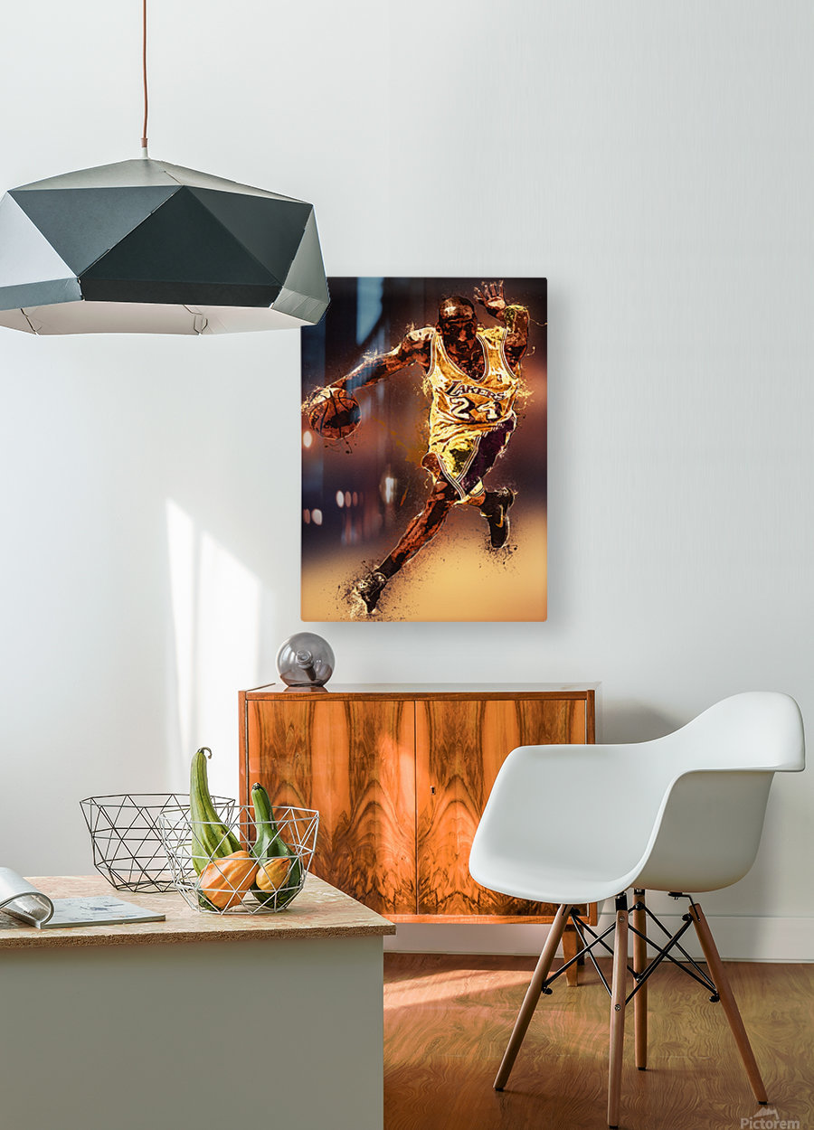 Kobe Bryant Best Moments 8  HD Metal print with Floating Frame on Back
