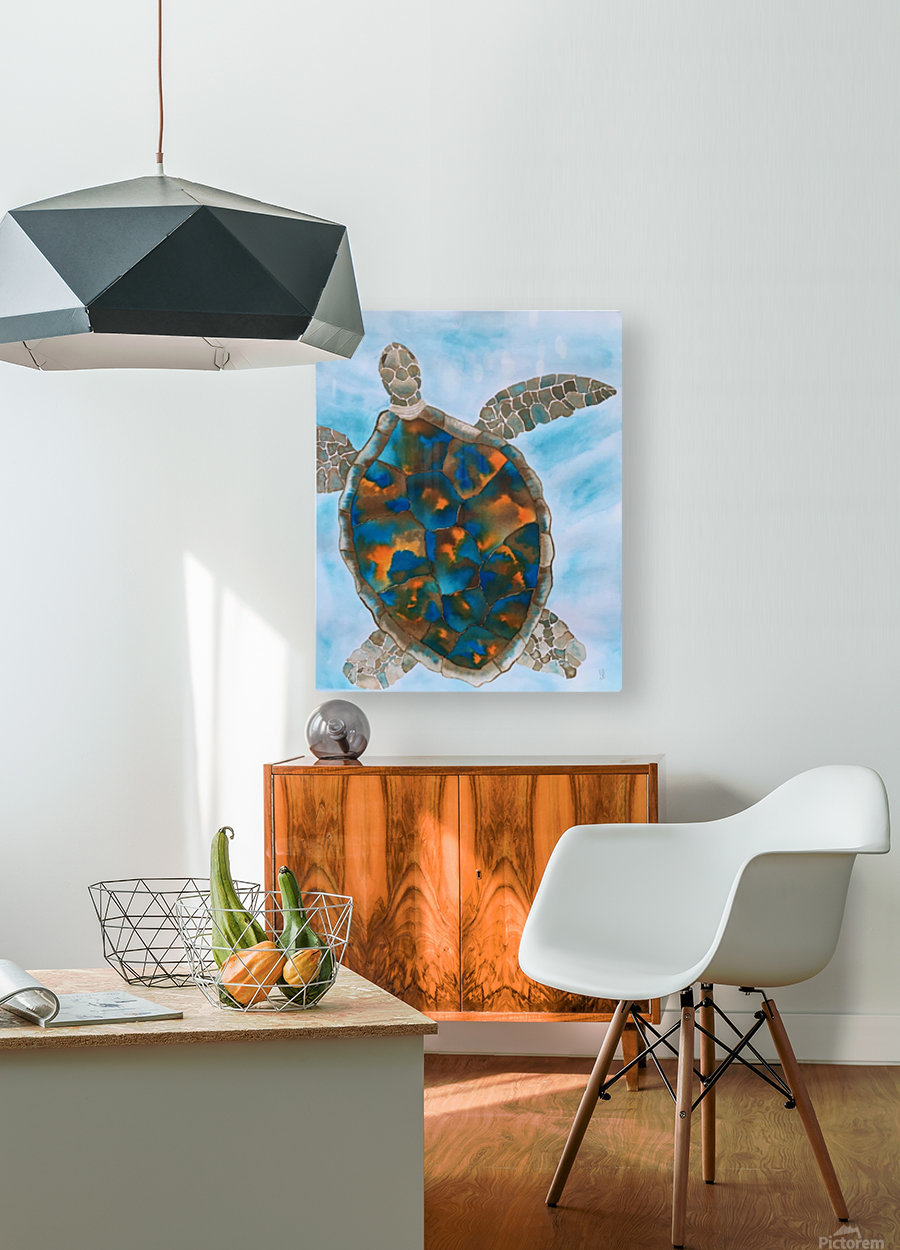 Turtle Island Breaths Again  HD Metal print with Floating Frame on Back