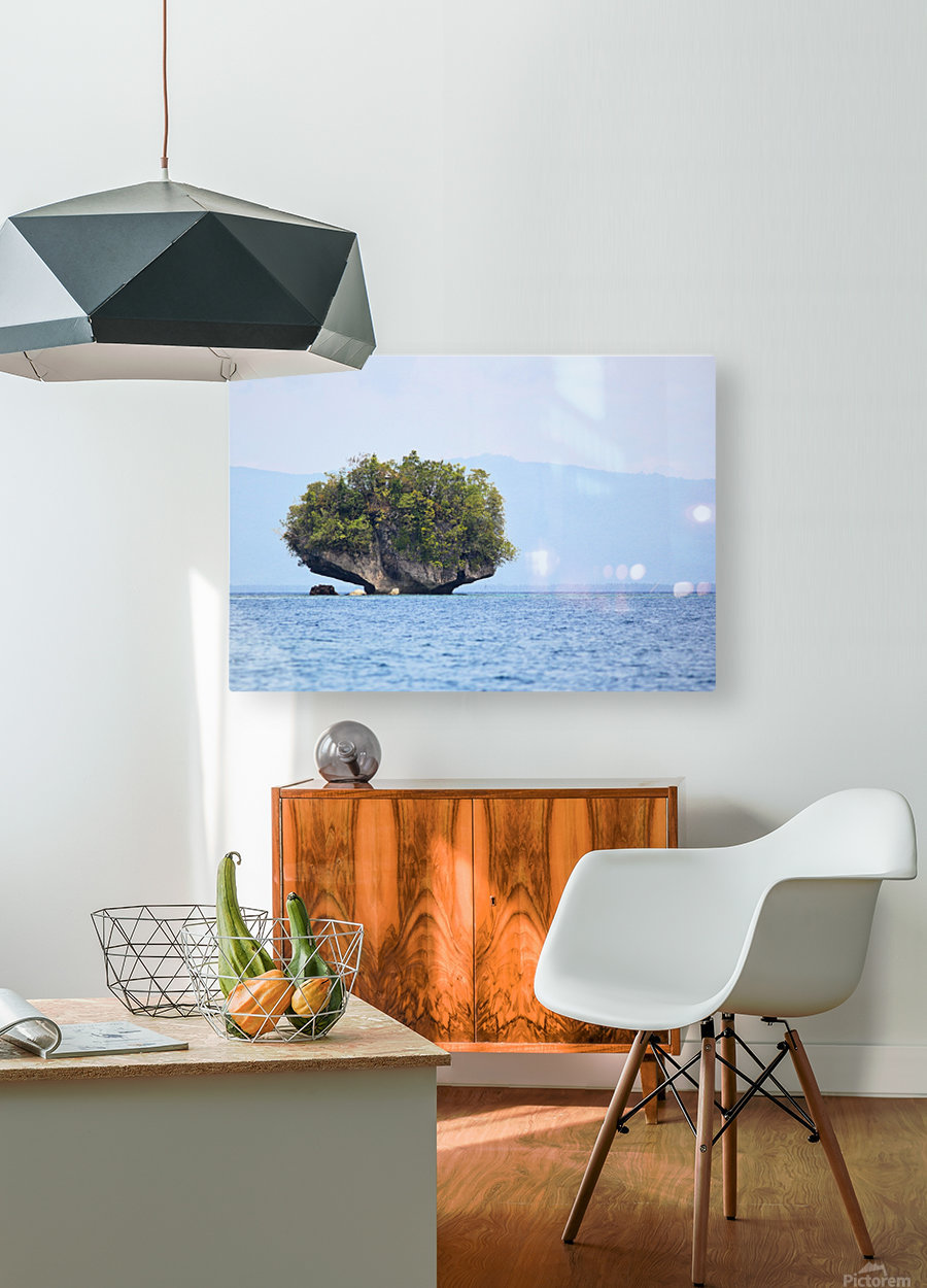 Rock Island  HD Metal print with Floating Frame on Back