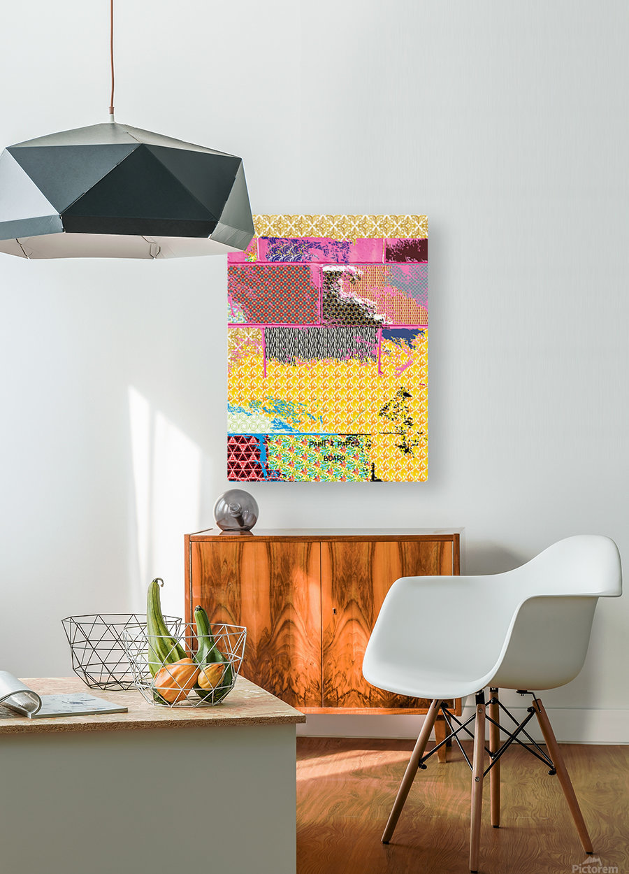 paint and paper board  HD Metal print with Floating Frame on Back