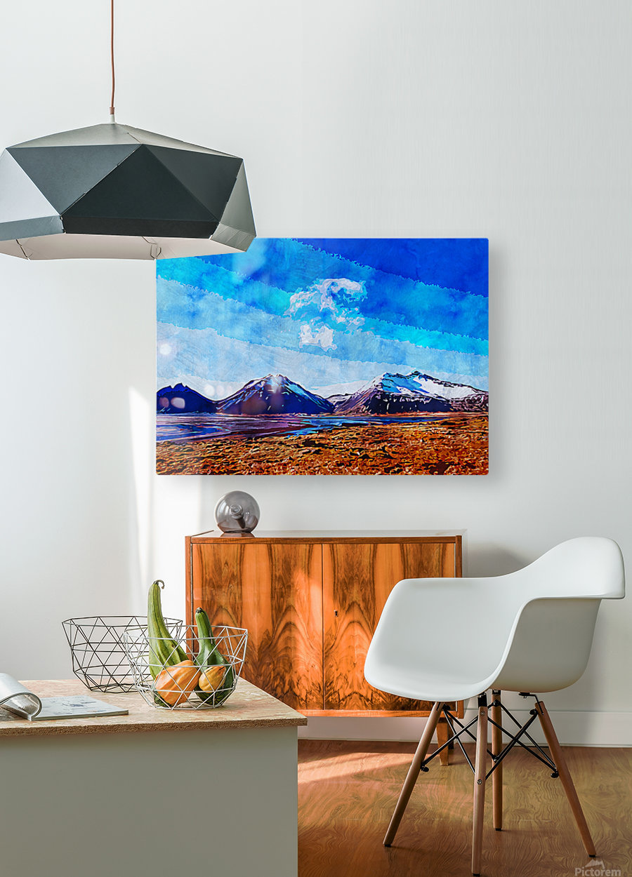 Nature View   HD Metal print with Floating Frame on Back