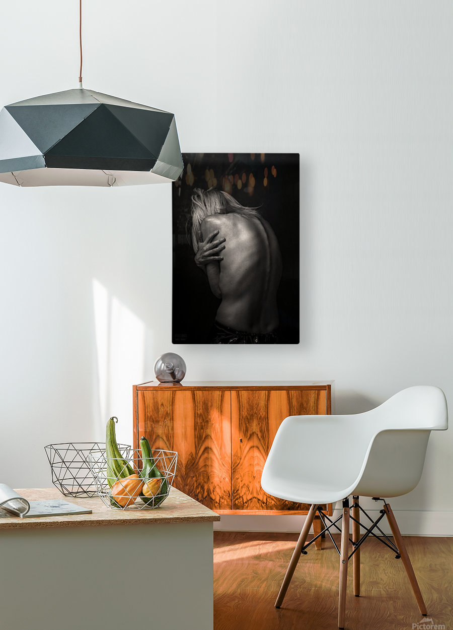 Dos  HD Metal print with Floating Frame on Back