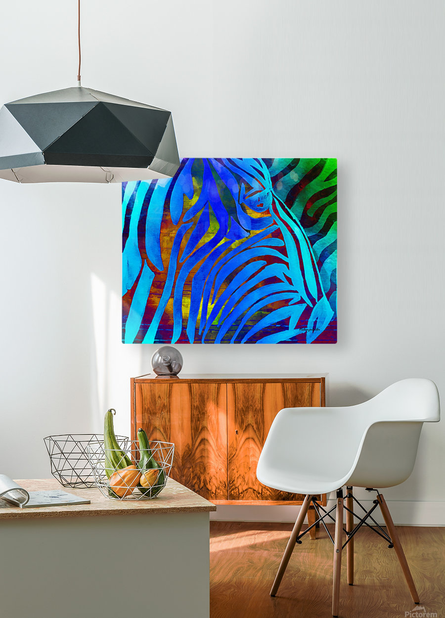 Jungle Fever  HD Metal print with Floating Frame on Back