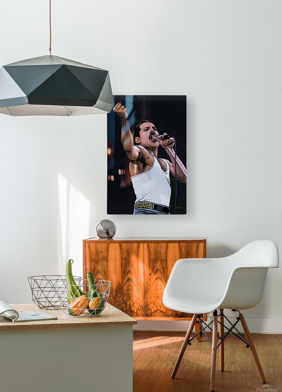 Freddie Mercury of Queen  HD Metal print with Floating Frame on Back
