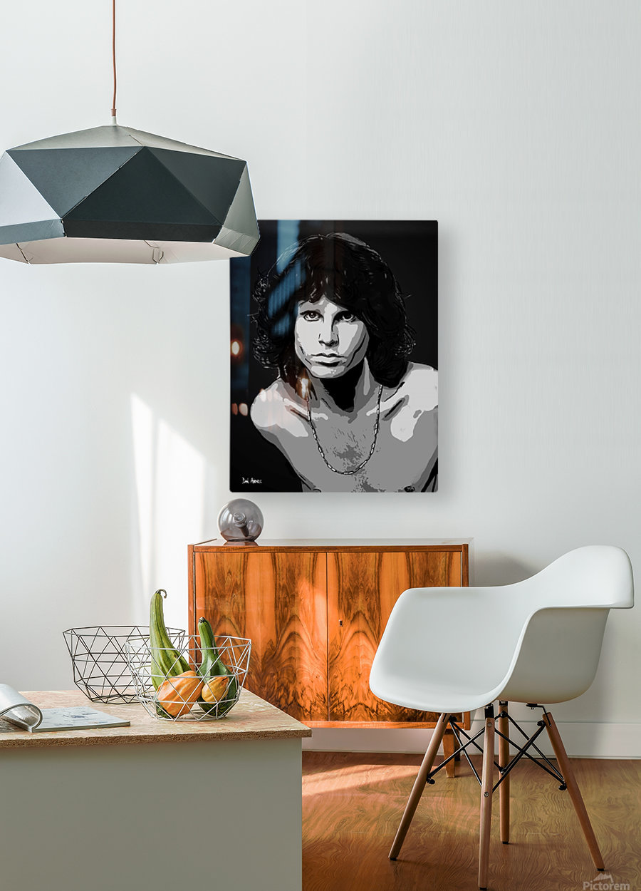 Jim Morrison of The Doors   HD Metal print with Floating Frame on Back
