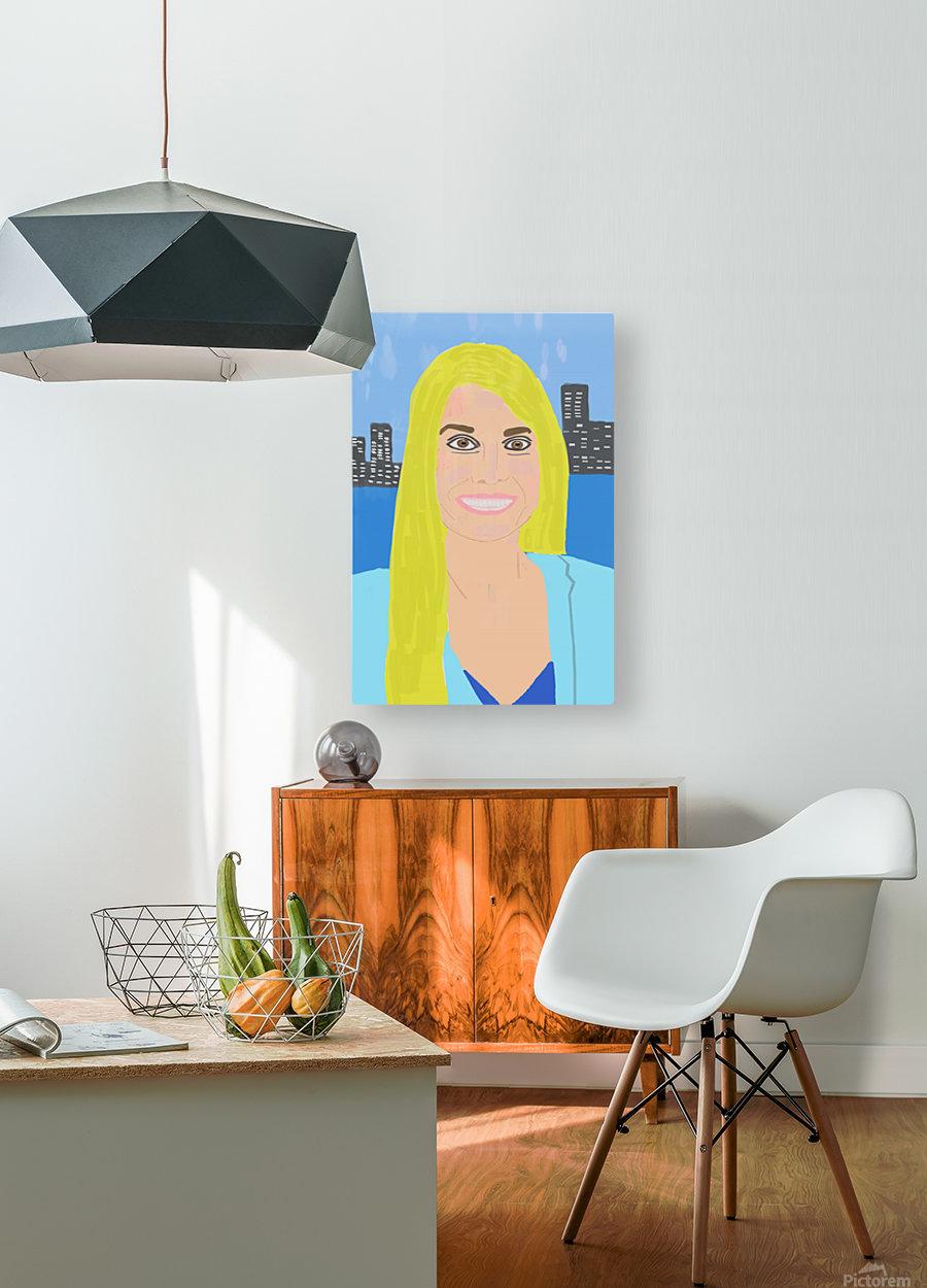 Big Smile  HD Metal print with Floating Frame on Back