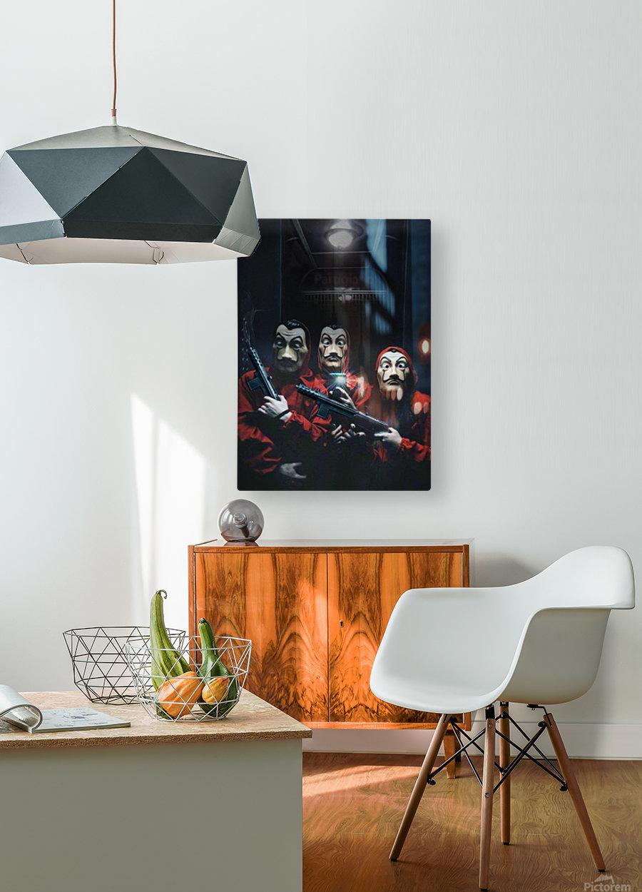 La Selfie  HD Metal print with Floating Frame on Back
